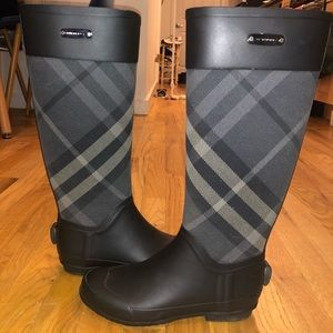 Black Burberry Rainboots OPEN TO OFFERS